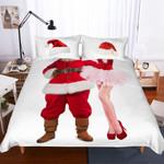 3d Christmas Santa Claus And Girl Bedding Set Bedroom Decor