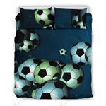 Footballs Printed Bedding Set Bedroom Decor For Sport Lover