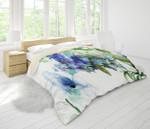 3d Blue Watercolor Floral Comfortable Bedding Set Bedroom Decor