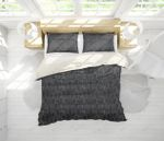 3d Black Popsicle Stick Arch Bedding Set Bedroom Decor
