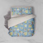 3d Blue Crab Duck Dog Palm Tree Cartoon Bedding Set Bedroom Decor