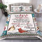 Bird To My Wife Once I Love You Always Bedding Set Bedroom Decor