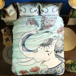 3d Bohemian Green Elephant Bedding Set Bedroom Decor