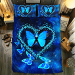 3d Butterfly Heart Shaped Bedding Set Bedroom Decor