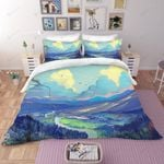 3d Blue Ink Landscape Bedding Set Bedroom Decor
