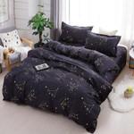 Star Signs Black Printed Bedding Set Bedroom Decor
