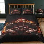 Racing Car Burning Printed Bedding Set Bedroom Decor