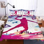 Geometric Basketball Printed Bedding Set Bedroom Decor For Sport Lovers