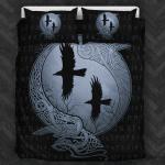 Viking Raven Circle Sign Bedding Set Bedroom Decor
