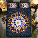 Monarch Butterfly Mandala Printed Bedding Set Bedroom Decor