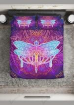 Dragonfly Lotus Abstract Printed Bedding Set Bedroom Decor