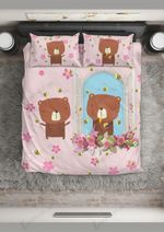 Bee And Cute Bear Printed Bedding Set Bedroom Decor
