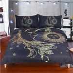 Gold Moon Accompanys Sun Printed Bedding Set Bedroom Decor