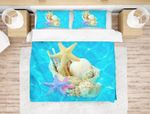3d Blue Starfish Conch Shell Comfortable Bedding Set Bedroom Decor