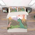 3d Cartoon Color Dinosaurs Bedding Set Bedroom Decor