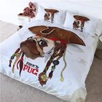 Cute Pirate Pug Bedding Set Bedroom Decor