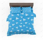 Paper Airplanes Designed Bedding Set Bedroom Decor