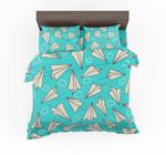 Super Cool Paper Airplanes Designed Bedding Set Bedroom Decor