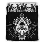 Skull Tattoo Design Black 3d Bedding Set Bedroom Decor