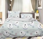 3d Cartoon Penguin Comfortable Bedding Set Bedroom Decor