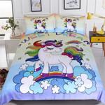Rainbow Unicorn Cartoon Bedding Set Bedroom Decor