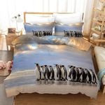 3d Blue Sky Penguin Bedding Set Bedroom Decor