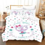 3d Cute Style Cat Letters Comfortable Bedding Set Bedroom Decor