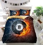 Ice And Fire Sports Billiards Bedding Set Bedroom Decor