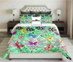 Butterfly Green Kings Printed Bedding Set Bedroom Decor