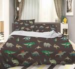 3d Color Cartoon Dinosaurs Comfortable Bedding Set Bedroom Decor