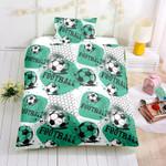 3d Cartoon Football Ball Pattern Bedding Set Bedroom Decor