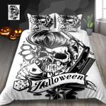 Skull Black Rock Printed Bedding Set Bedroom Decor