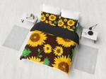 Sunflowers Black Bedding Set Bedroom Decor
