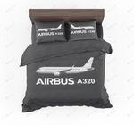 The Airbus A320 Designed Gray Bedding Set Bedroom Decor