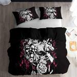 Sugar Skull Bedding Sets Black Comforter Printed Bedding Set Bedroom Decor