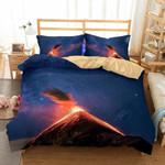 Volcano Eruption Printed Bedding Set Bedroom