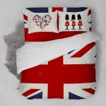 London Heart Flag Bedding Set Bedroom Decor