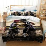 3D Cross Country Motorcycle Sky Printed Bedding Set Bedroom Decor