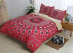 3d Bohemian Red Comfortable Bedding Set Bedroom Decor