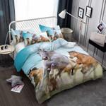 Free Horses Run Printed Bedding Set Bedroom Decor