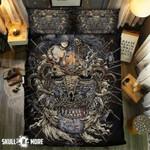 Skull Rock And Human Printed Bedding Set Bedroom Decor