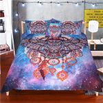 Owl Dream Catcher With Feathers Bedding Set Bedroom Decor