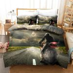 3d Extreme Motorcycle Comfortable Bedding Set Bedroom Decor