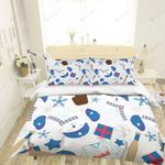 3d Baseball Clothes Hats Comfortable Bedding Set Bedroom Decor