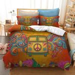 Van Bus Tribal Pattern Printed Bedding Set Bedroom Decor