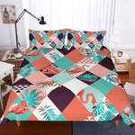 3d Flamingo Diamond Comfortable Bedding Set Bedroom Decor