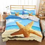 Wholesale Natural Scenery Starfish Printed Bedding Set Bedroom Decor
