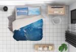 3d Blue Sky Mountain Bedding Set Bedroom Decor
