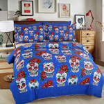 3d Creative Skull Flowers Bedding Set Bedroom Decor