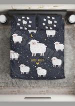 Sheep Good Night World Printed Bedding Set Bedroom Decor